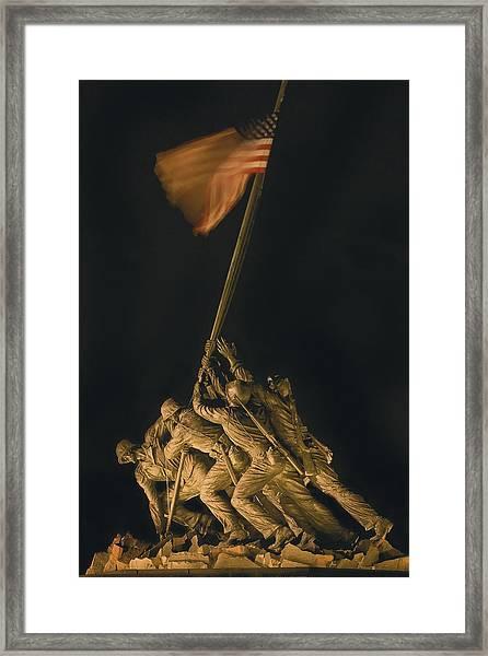 Iwo Jima Remembrance Framed Print