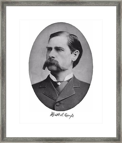 Wyatt Earp Autographed Framed Print