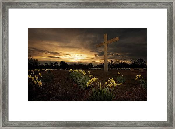 Wye Mountain Sunset Framed Print