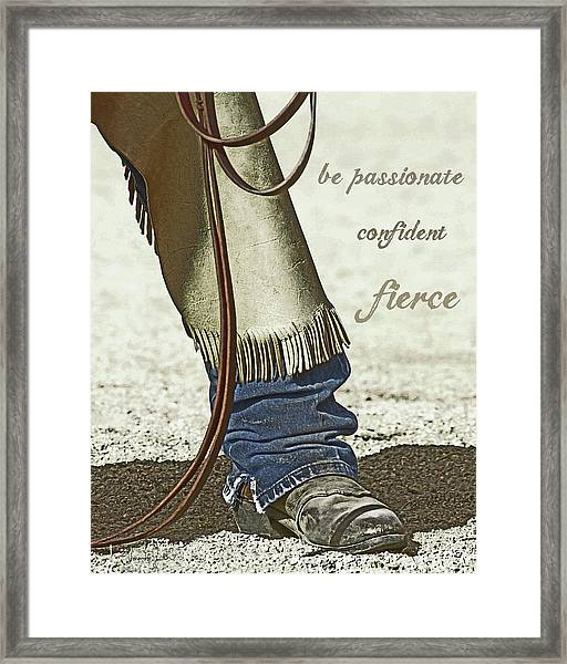 Wyoming Fierce Framed Print
