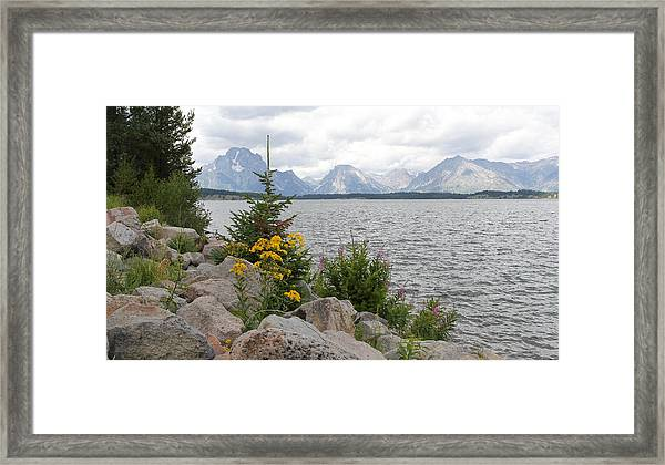 Wyoming Mountains Framed Print
