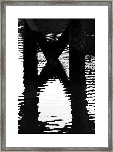 X Marks Framed Print by Barbara  White