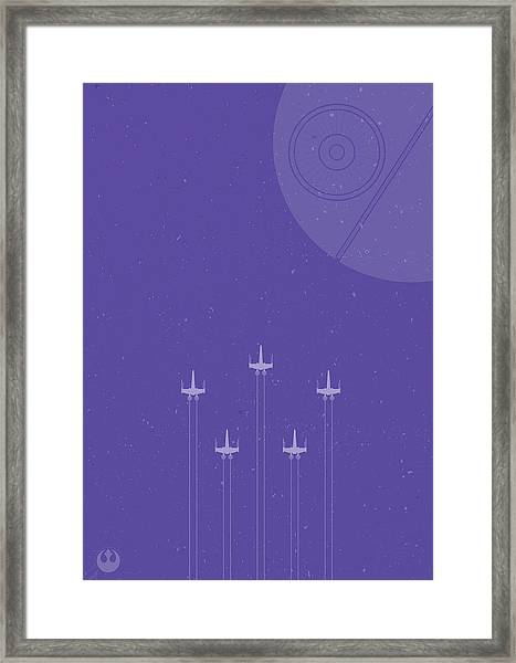 X-wing Attack Framed Print