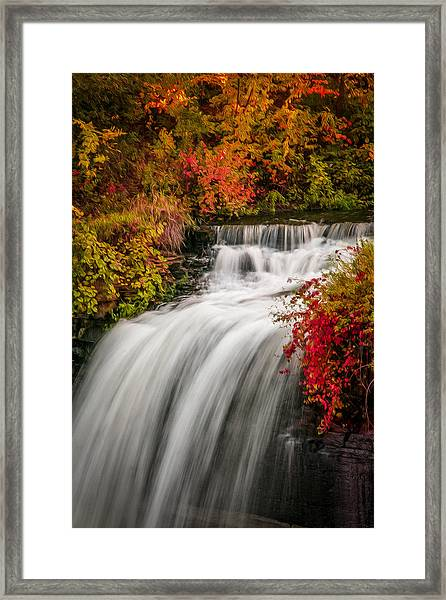 Framed Print featuring the photograph Fall At Minnehaha Falls by Patti Deters