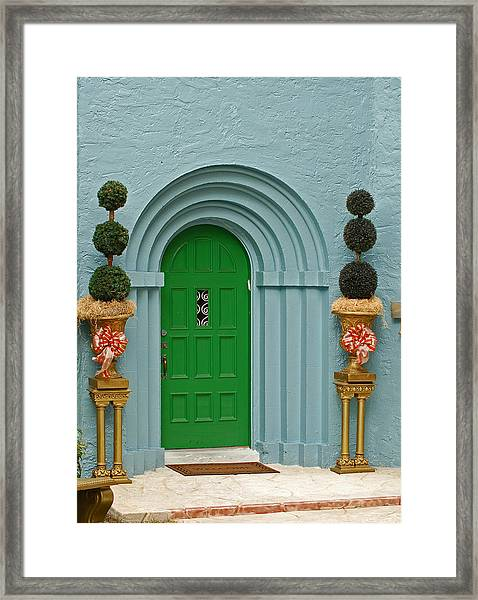 Xmas Door Framed Print
