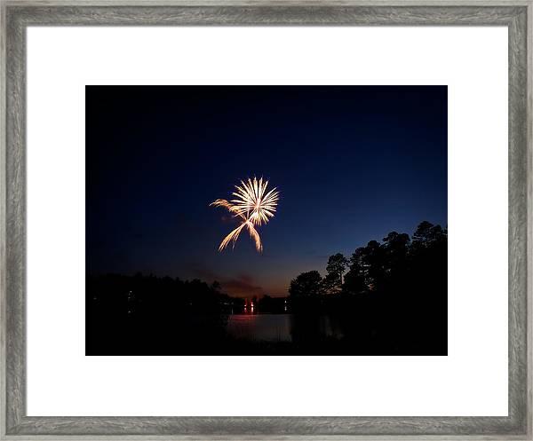 Xo Firework Framed Print