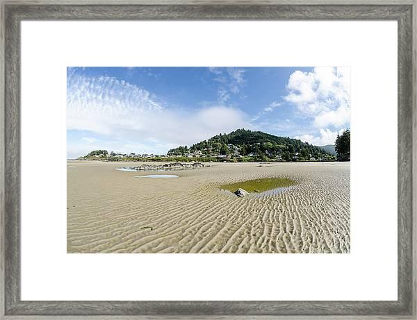 Yachats River At Low Tide Framed Print