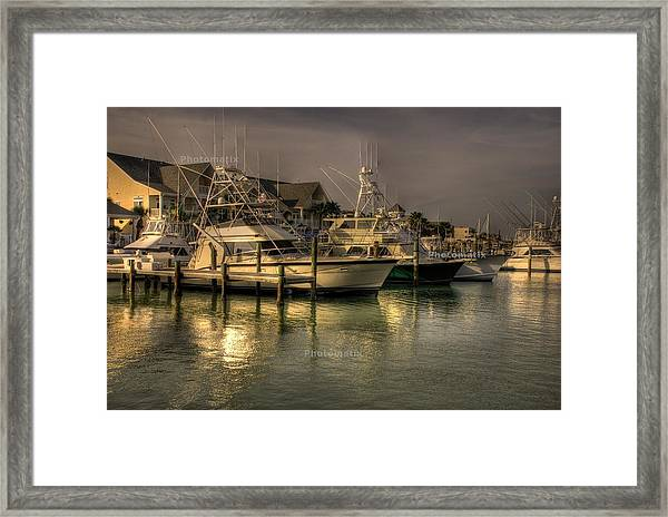 Yachts In Hdr Framed Print