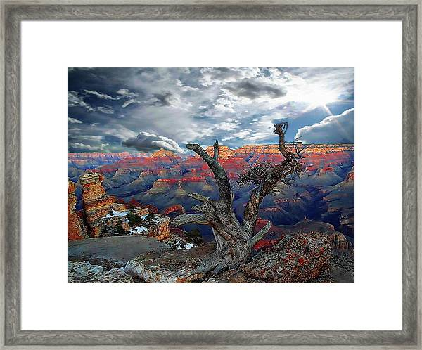 Yaki Point Grand Canyon Framed Print