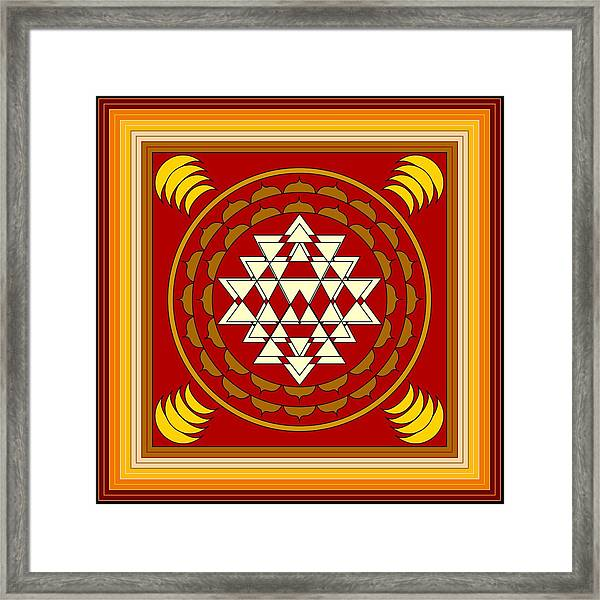 Yantra Meditation Framed Print