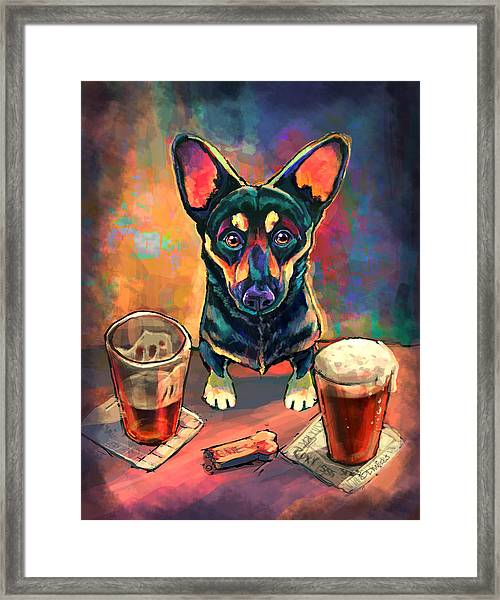 Yappy Hour Framed Print