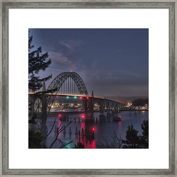 Yaquina Night Crossing Framed Print