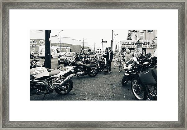Yarmouth Bikers Framed Print