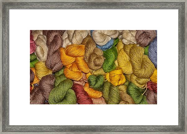 Yarn Stack Abstract Framed Print
