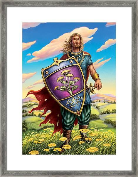 Yarrow - Protective Shield Framed Print