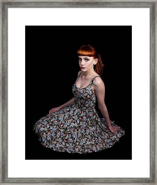 Yasmin Skirt Left Framed Print