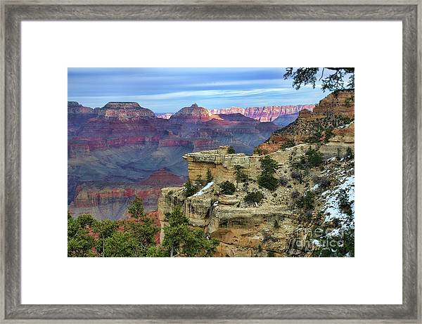 Yavapai Point Sunset Framed Print