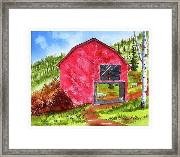 Ye Olde Barn Framed Print