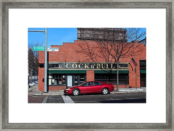 Ye Olde Cock N Bull Framed Print