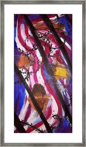 Framed Print featuring the painting Yearning To Be Free by Kevin Daly