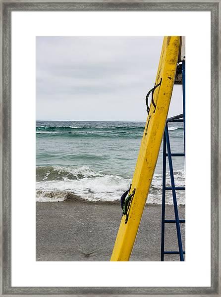 Yellow Surfboard Framed Print