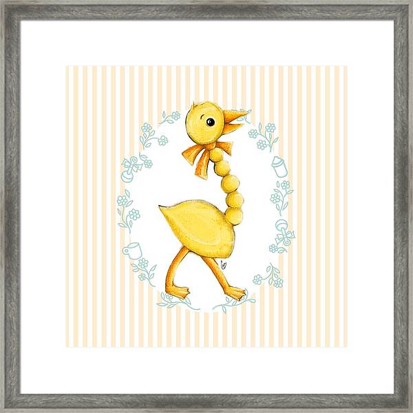 Yellow Baby Duck Framed Print