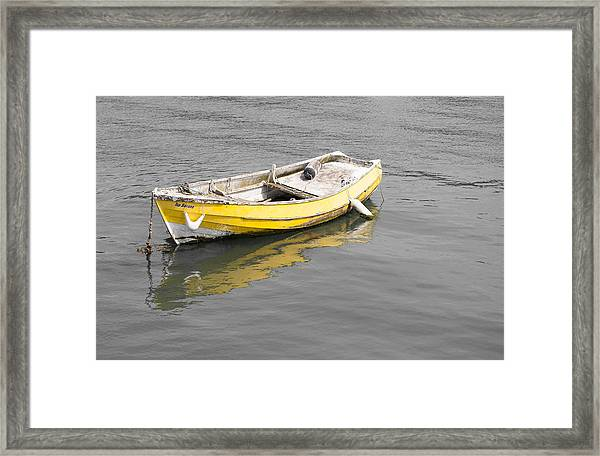 Yellow Boat Framed Print