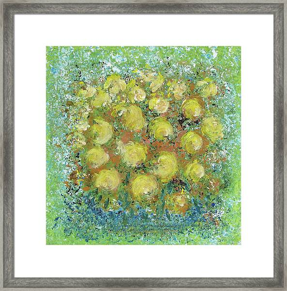 Yellow Bouquet Framed Print