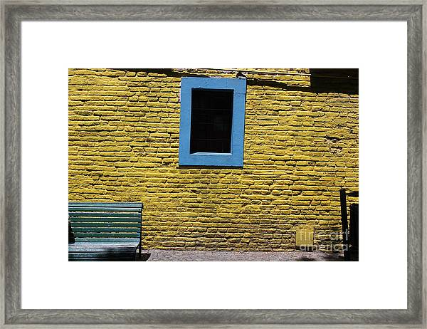 Yellow Brick Window Framed Print