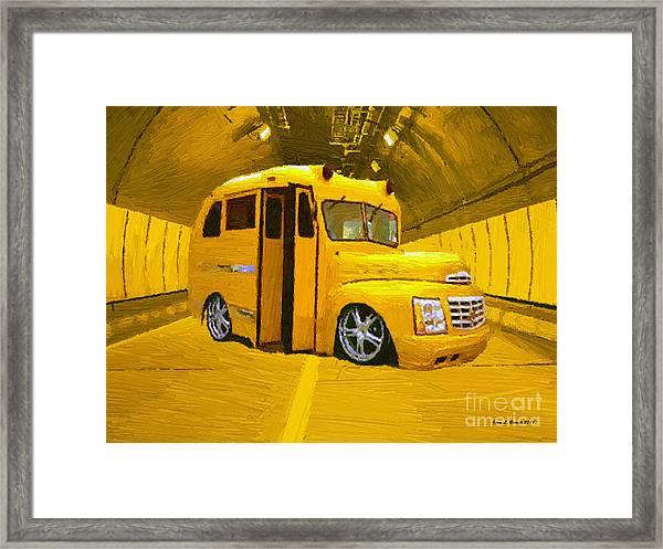 Yellow Bus Framed Print