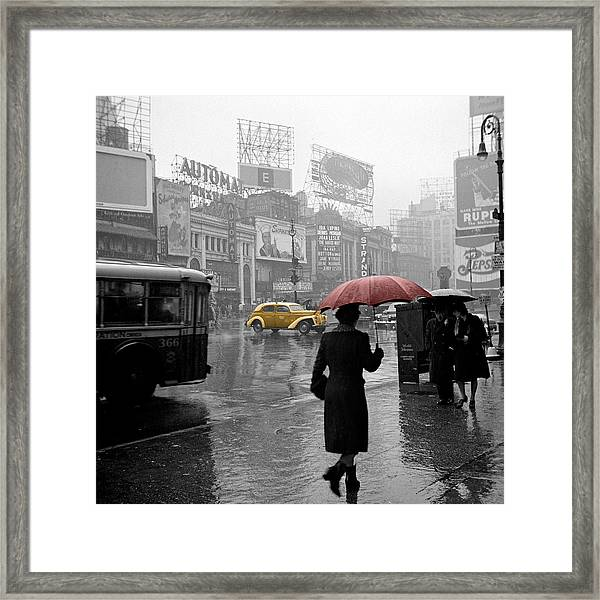 Yellow Cabs New York 2 Framed Print