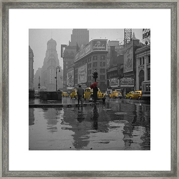 Yellow Cabs New York Framed Print