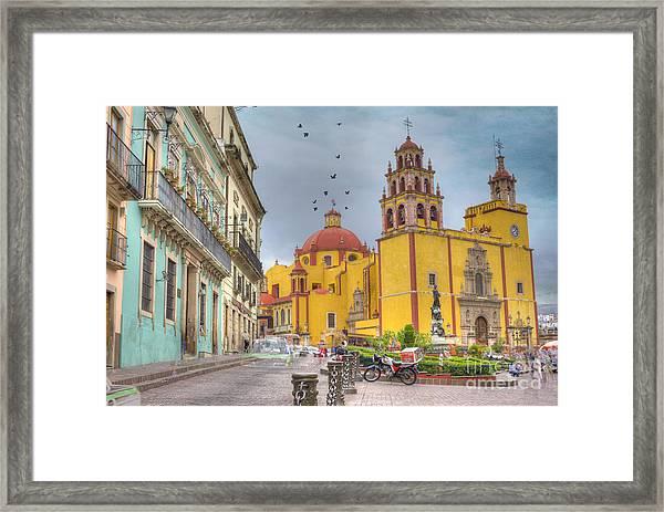 Yellow Church Framed Print