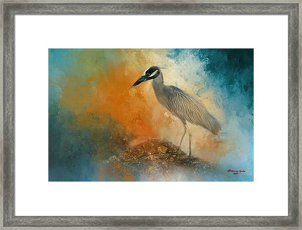 Yellow Crown Framed Print