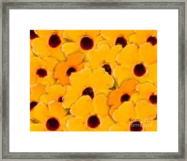 Yellow Daisy Flowers Framed Print