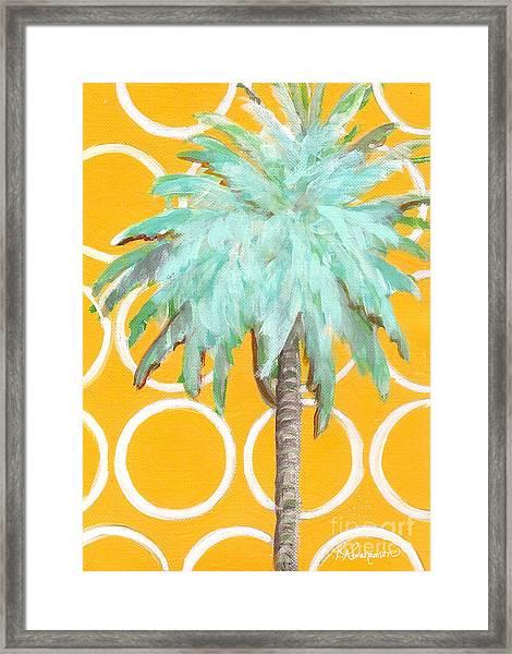 Yellow Delilah Palm Framed Print