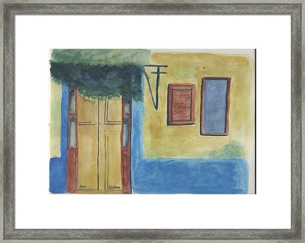Yellow Door Framed Print by Jane Croteau