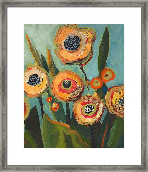 Framed Print featuring the painting Yellow Flowers No2 by Shelli Walters