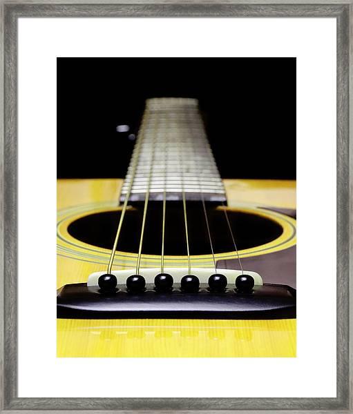 Yellow Guitar 17 Framed Print