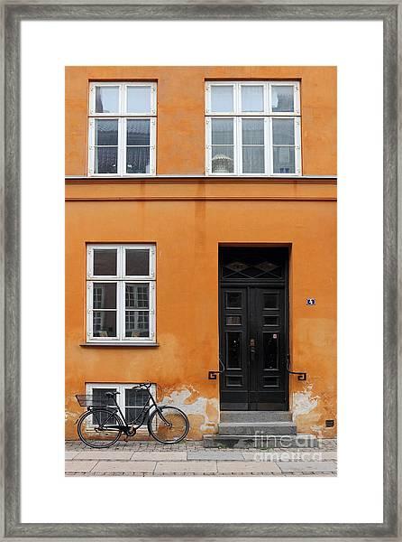 The Orange House Copenhagen Denmark Framed Print