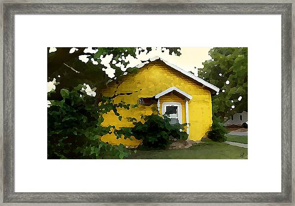 Yellow House In Shantytown  Framed Print