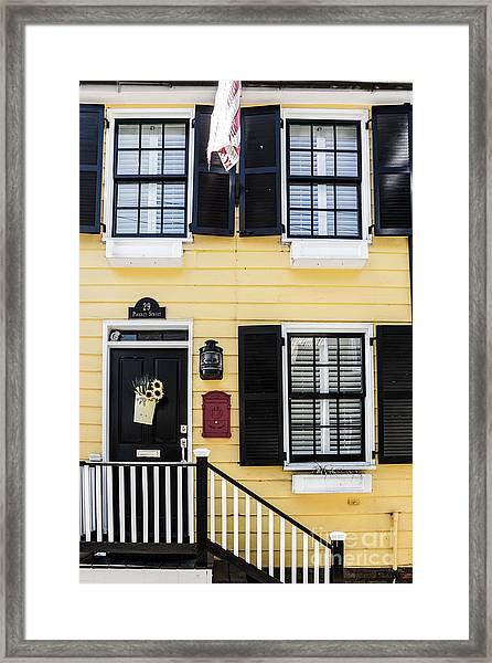 Yellow House Framed Print