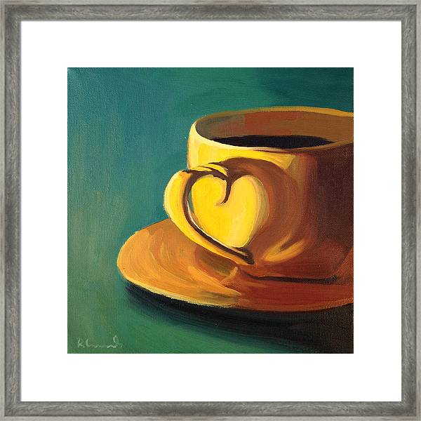 Yellow Java Framed Print