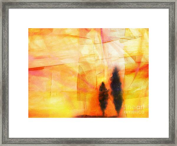 Yellow Lightscape Framed Print
