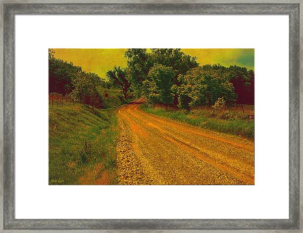 Yellow Oz Road Framed Print