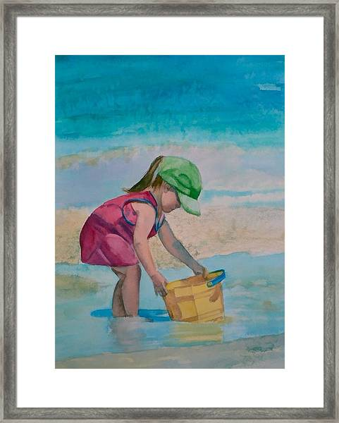 Yellow Pail Framed Print