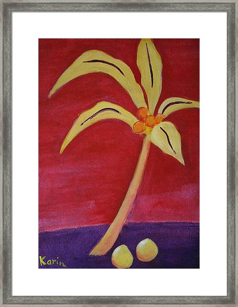 Yellow Palm Framed Print