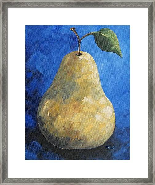 Yellow Pear II - Redux Framed Print
