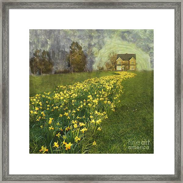 Yellow River To My Door Framed Print