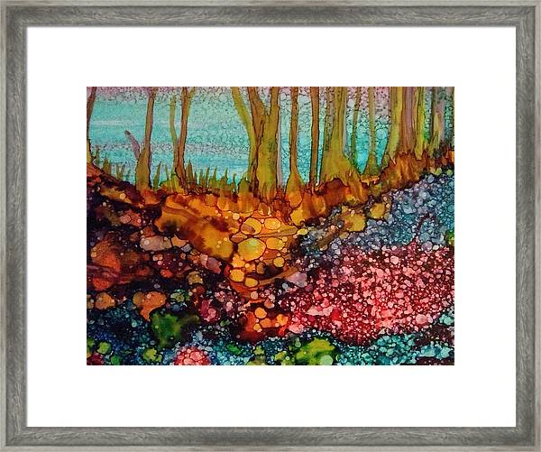 Yellow Trees Framed Print